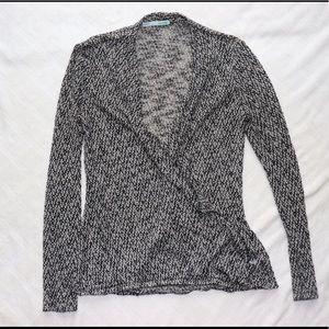 Cross Overlay Lightweight Sweater